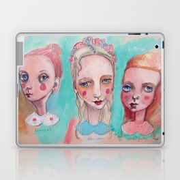 White, Blue and Pink Collared Laptop & iPad Skin