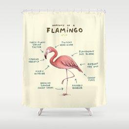 Anatomy of a Flamingo Shower Curtain