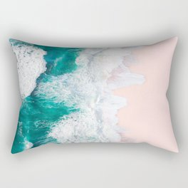 Pink Sand Beach Rectangular Pillow