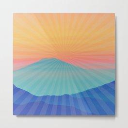 Sun Mountain Metal Print