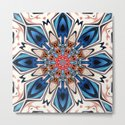 Abstract Blue And Orange Flower by perkinsdesigns
