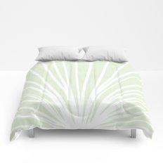 Dandelions in Mint by Friztin Comforters