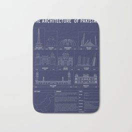 The Architecture of Pakistan Bath Mat