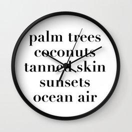 beachy things Wall Clock