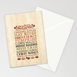 Autumn Fun Stationery Cards