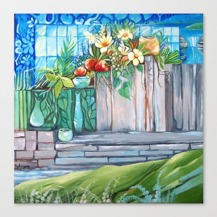 2 Window Nature Canvas Print