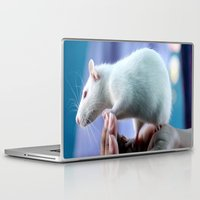 rat Laptop & iPad Skins featuring White Rat  by Four Hands Art