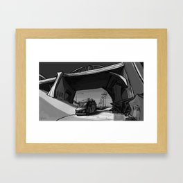 Food Truck Under a DTLA Bridge Framed Art Print