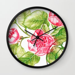 Branch of a Quince tree in Spring Wall Clock