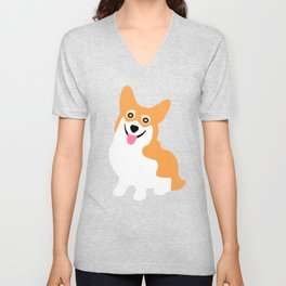 Cute Little Corgi Unisex V-Neck