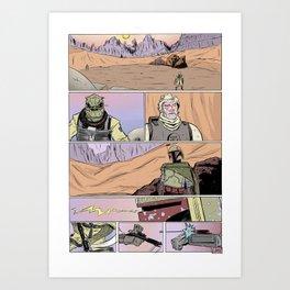 Tatooine Standoff Art Print