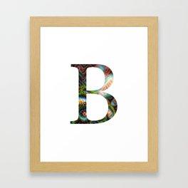 """Initial letter """"B"""" Framed Art Print"""