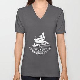 Sailing Boat Sailbook Sailing Sailor Unisex V-Neck