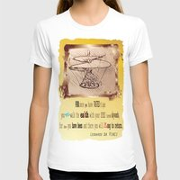 da vinci T-shirts featuring Da Vinci Helicopter by Anarchasm