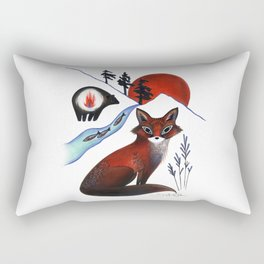 Fox on the Mountain Rectangular Pillow