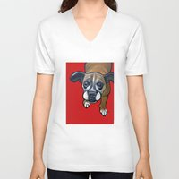 lucy V-neck T-shirts featuring Lucy by Pawblo Picasso