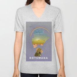 Botswana Unisex V-Neck