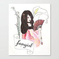 fangirl Canvas Prints featuring Fangirl by Zomberflie