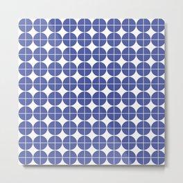 Blue circle pattern Metal Print