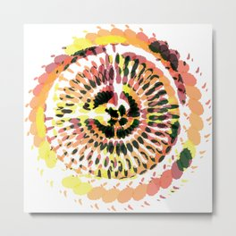 Warm Spiraled Exclusion Metal Print