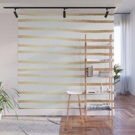 Simply Drawn Stripes Golden Copper Sun Wall Mural