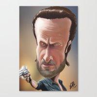 rick grimes Canvas Prints featuring Rick Grimes by Carrillo Art Studio