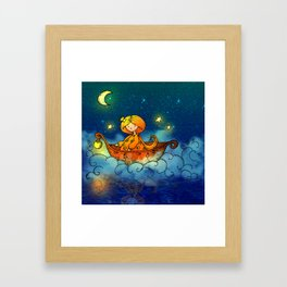 Sailing the Stars Framed Art Print