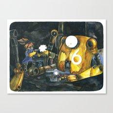 Moonbot #6: Yellow Canvas Print