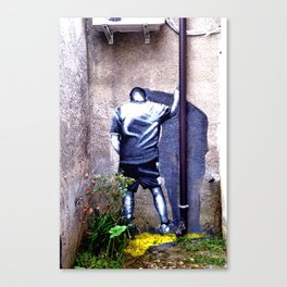 In the corner Canvas Print