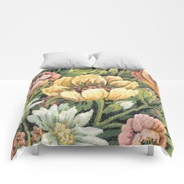 Grandma's Vintage Floral Couch Comforters