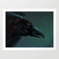 Dark Rider Art Print