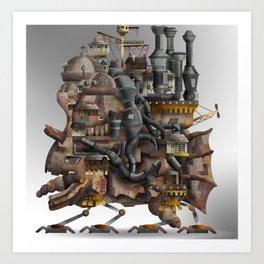 Howling Castle Art Print