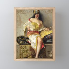 "Luis Ricardo Falero ""Spanish dancer"" Framed Mini Art Print"