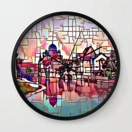 Nuremberg River View Wall Clock