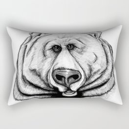 A big, cuddly, grizzly bear! Rectangular Pillow