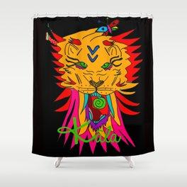wizard lion2 Shower Curtain