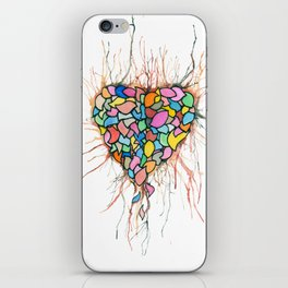 Layered Hearts Stay As One iPhone Skin