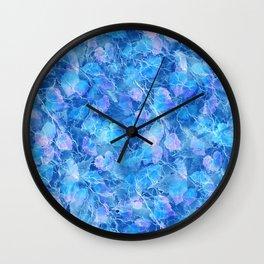 Frozen Leaves 29 Wall Clock