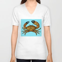 Stone Rock'd Stone Crab By Sharon Cummings Unisex V-Neck