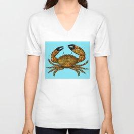 Stone Rock'd Stone Crab By Sharon Cummings Unisex V-Neck