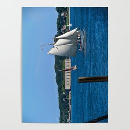 Sailboats in Portland, Maine Poster