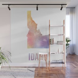 Watercolor State - ID Wall Mural
