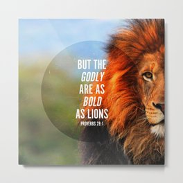 BOLD AS LIONS Metal Print