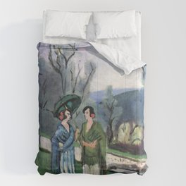 Henri Matisse - Conversation under the Olive Trees - Exhibition Poster Comforters