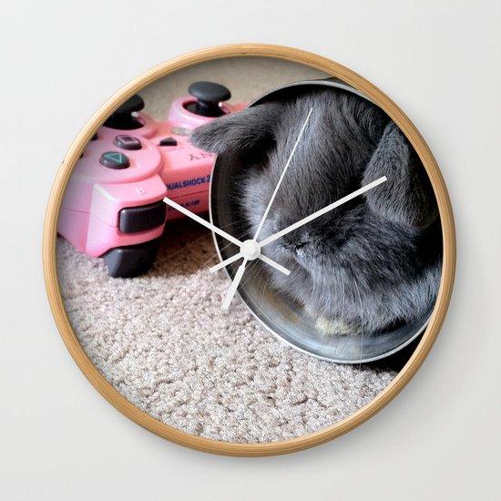 Gamer Bunny Wall Clock