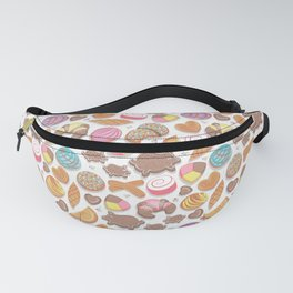 Mexican Sweet Bakery Frenzy // white background // pastel colors pan dulce Fanny Pack