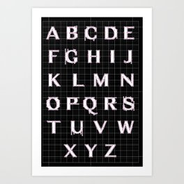 Basic Type Illustration Art Print