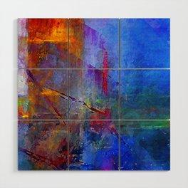 Intensity of Blue Digital Painting Wood Wall Art