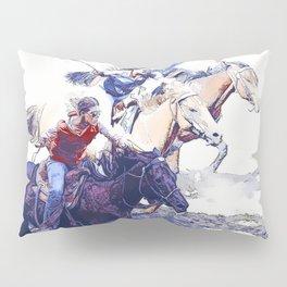 Horse Racing Cowgirls Pillow Sham