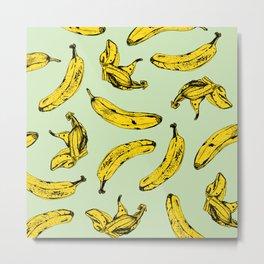 Mint Banana Metal Print